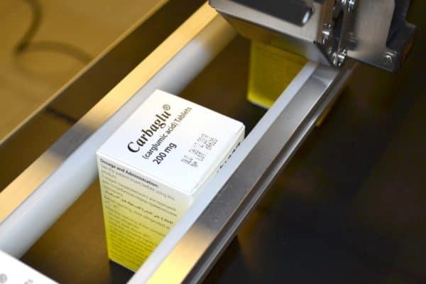 Marquage sur carton réalisée avec l'imprimante jet d'encre industrielle TI300