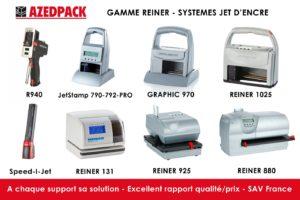 Présentation de la gamme des systèmes jet d'encre de chez REINER