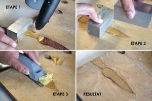 Etapes pour réparer les imperfections du bois