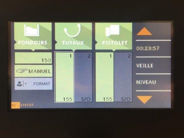 Ecran tactile couleur pour le générateur de colle chaude Melt5.