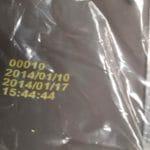Impression jaune sur sachet plastique opaque