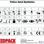Exemples de marquage possible avec notre police Azed Symbole.