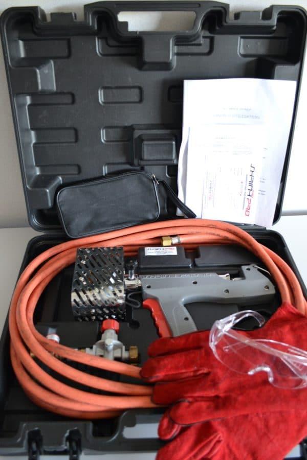 Pistolet de rétraction SP10 dans sa valise