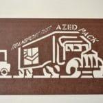 Exemple de pochoir que la société Azedpack peut réaliser sur demande