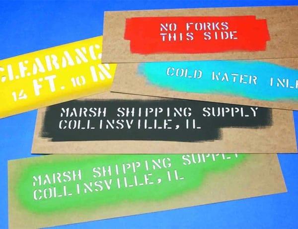 Pochoir carton MARSH