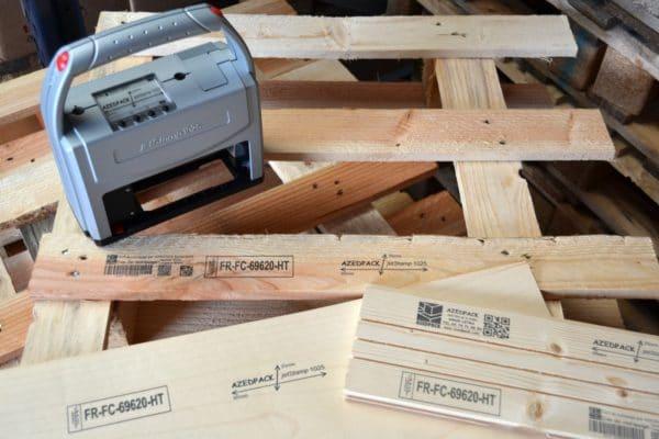 REINER 1025 Marquages NIMP15 (IPPC) et autres sur différents supports bois